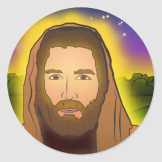 Jesus: Resurrection Morning Classic Round Sticker