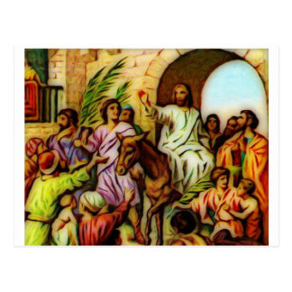 Jesus Rides the Donkey into Jerusalem Postcard