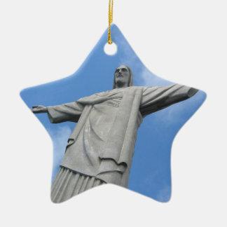 jesus rio ceramic ornament
