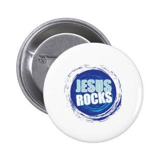 Jesus Rock s 6 Blue 6 Cm Round Badge