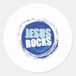 Jesus Rock s 6 Blue Sticker