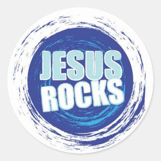 Jesus Rock s 6 Blue Stickers