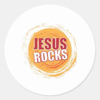 Jesus Rocks 2 Orange Sticker