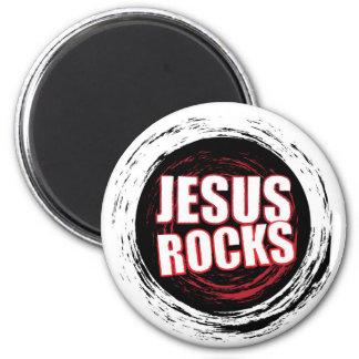 Jesus Rocks 5 Black Magnets