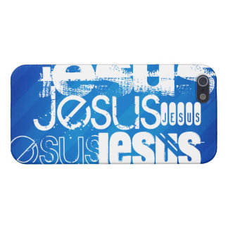Jesus; Royal Blue Stripes iPhone 5 Covers