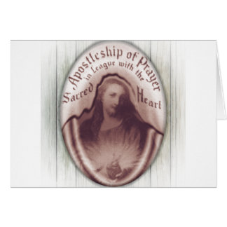 Jesus Sacred Heart Hanging Wall Plaque Icon Greeting Card