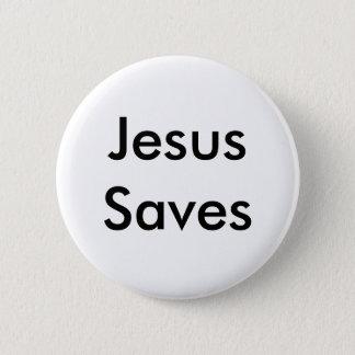 Jesus Saves 6 Cm Round Badge