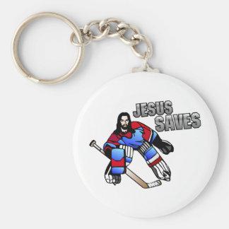 JESUS SAVES BASIC ROUND BUTTON KEY RING