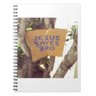 Jesus Saves bro Notebook