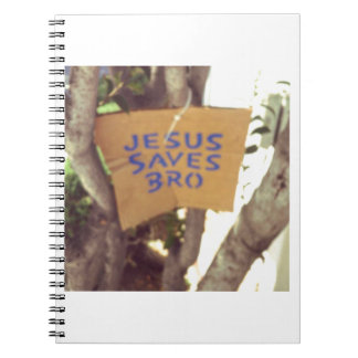 Jesus Saves bro Spiral Notebook
