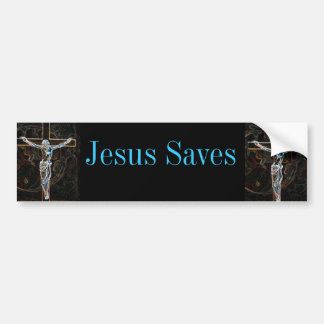Jesus Saves Bumper Sticker Car Bumper Sticker