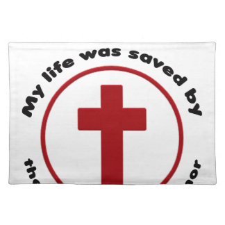 jesus saves, christian religion gift t shirt placemat