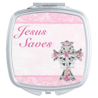 Jesus Saves Compact Mirror