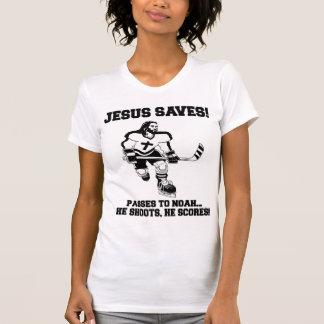 Jesus Saves Hockey funny tshirt