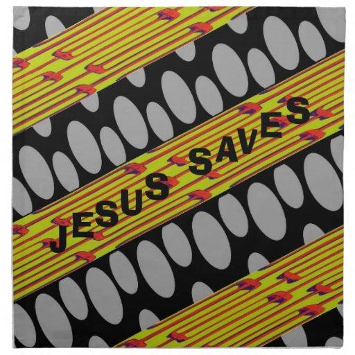 Jesus Saves Cloth Napkin