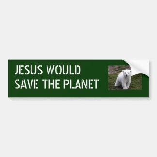 Jesus saves planet bumper sticker