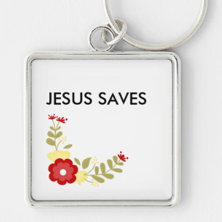 Jesus Saves Premium Key Chain