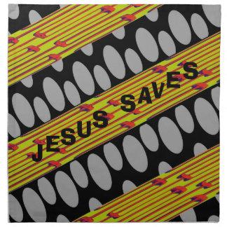 Jesus Saves Printed Napkins