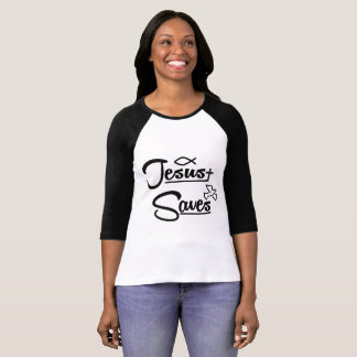 Jesus Saves Raglan T-Shirt