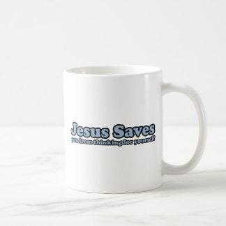 Jesus Saves Satire Basic White Mug