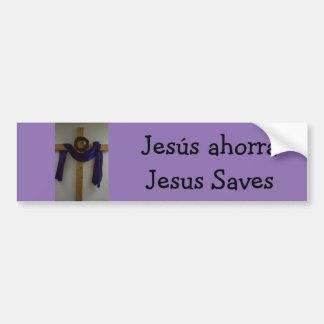 Jesus Saves (Spanish) Bumper Sticker