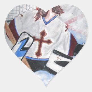 Jesus Saves! Heart Sticker