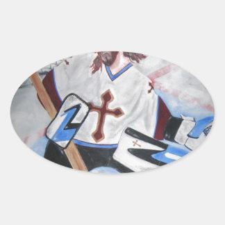 Jesus Saves! Oval Sticker