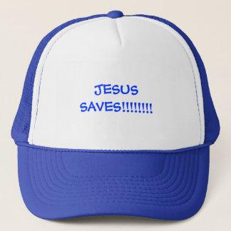 JESUS SAVES!!!!!!!! TRUCKER HAT