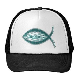 Jesus Savior Fish Symbol Mesh Hat