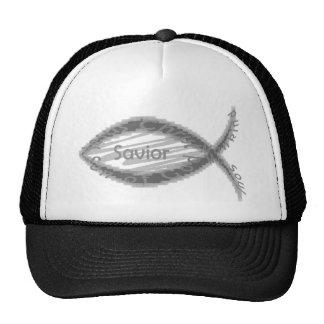Jesus Savior Fish Symbol Hat