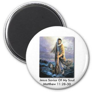 Jesus Savior Of My Soul 6 Cm Round Magnet