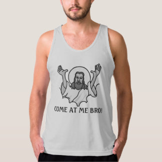 Jesus Says Come At Me Bro Singlet