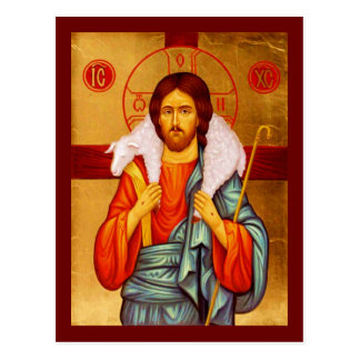 Jesus Seeker of Lost Sheep Postcard