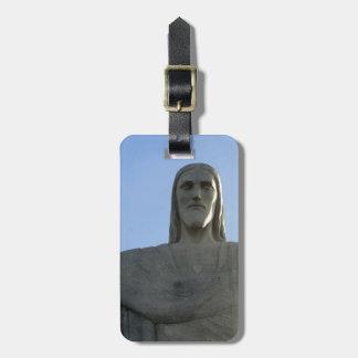 Jesus sees everything luggage tag