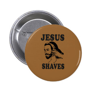 JESUS SHAVES PINBACK BUTTONS