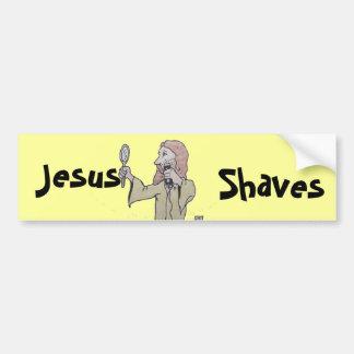 , Jesus, Shaves bumper sticker