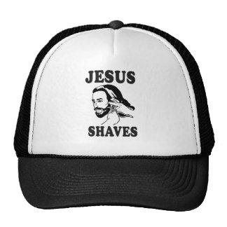JESUS SHAVES MESH HAT