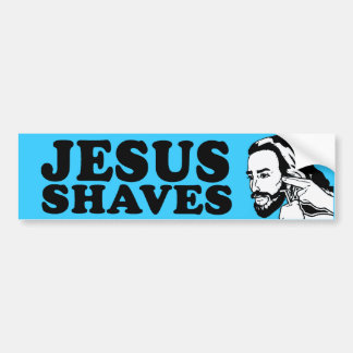JESUS SHAVES -.png Bumper Sticker