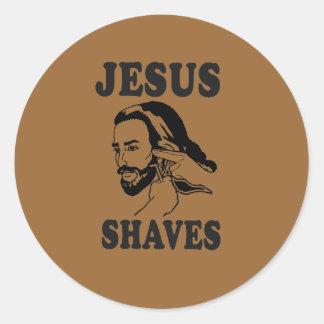 JESUS SHAVES STICKER