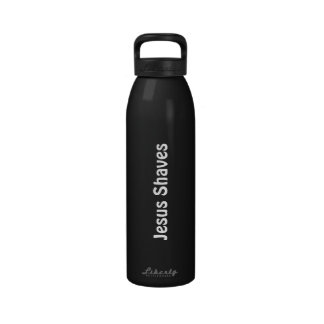 Jesus Shaves Reusable Water Bottle