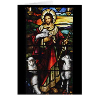 Jesus Shepherd and His Sheep Card