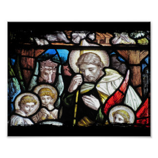 Jesus Shepherd Stained Glass Art Poster