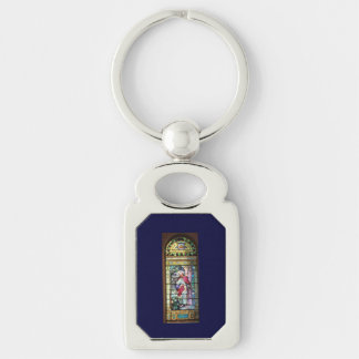 Jesus Silver-Colored Rectangle Key Ring