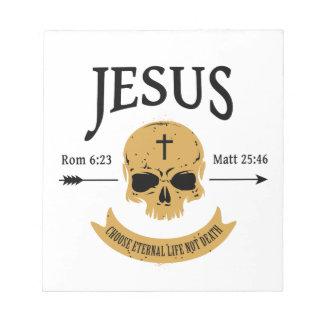 Jesus Skull Eternal Life Christian Notepad