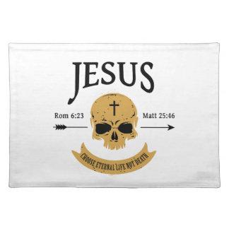 Jesus Skull Eternal Life Christian Placemat