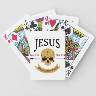 Jesus Skull Eternal Life Christian Poker Deck