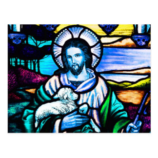 Jesus Stained Glass Postcard