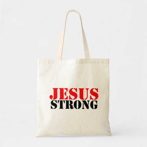 Jesus Strong Tote Bags