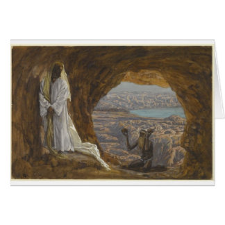 Jesus Tempted in Wilderness Card