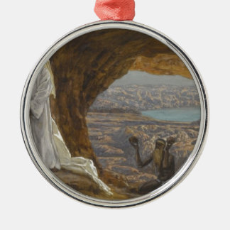 Jesus Tempted in Wilderness Metal Ornament